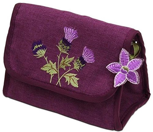 Price comparison product image Cosmetic Bag in a Glencoe Thistle Design.