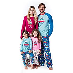 Little Blue House By Hatley Women's Merry Christmas Family Pajamas, Girls' Long Sleeve Pajama Set-Merry Christmas, 6 Years
