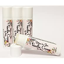 Sisters in Spa Vanilla Cream Lip Balm with Shea and Cocoa Butters for Silky Smooth Kissable Lips – Made in the USA