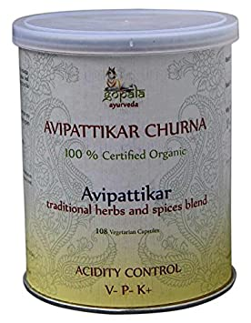 Avipattikar BIO, Certificado ecológico por LACON GmbH en Europa, Suplemento de hierbas 100%