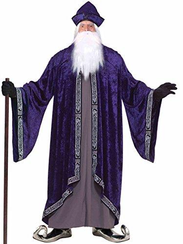 3x Mens Halloween Costumes (Forum Novelties Men's Grand Wizard Deluxe Designer Adult Plus Size Costume, Purple, 3X-Large)