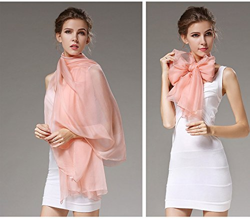 Grace Scarves 100% Silk Scarf, Oblong, Chiffon, Solid Color