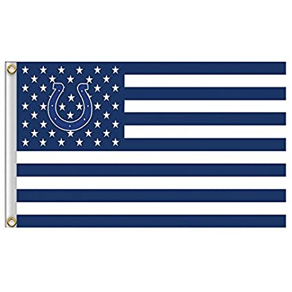 quality design 14b0f a51cb New Indianapolis Colts Flag, Exclusive NFL Merchandise for Indoor/ Outdoor  Use, 100% Polyester, 3 x 5 Ft