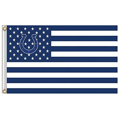 New Indianapolis Colts Flag, Exclusive NFL Merchandise for Indoor/ Outdoor Use, 100% Polyester, 3 x 5 Ft