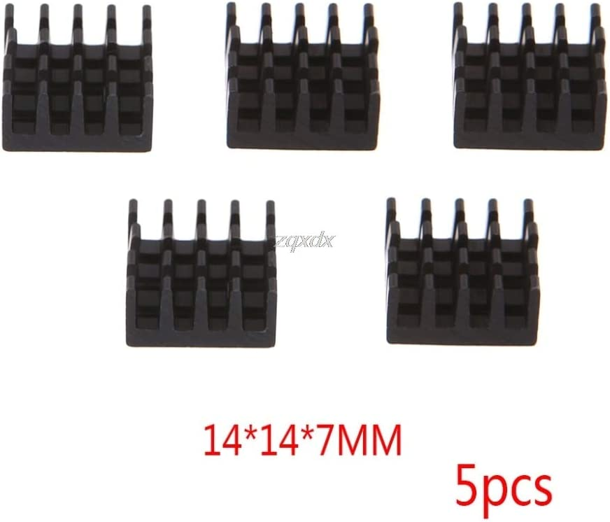 5pcs Computer Cooler Radiator Aluminum Heatsink Heat sink for Electronic Chip Heat dissipation Cooling Pads 14x14x8mm June Value-5-Star