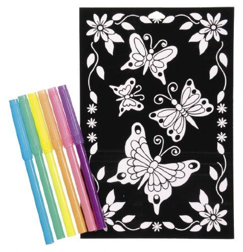 Velvet Poster Butterfly (Darice 2514-57 Butterfly and Daisy Velvet Poster, 6 by 9-Inch)