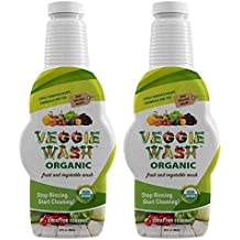 Veggie Wash Organic Fruit and Vegetable Wash, Pack of 2, 32-Ounces Each