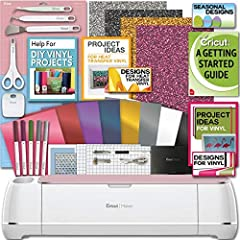 The Cricut Maker is the ultimate smart cutting machine. Its professional-level cutting performance is now accessible to everyone.-Cuts hundreds of materials, from the most delicate fabric and paper to matboard and leather.-Expandable suite of...