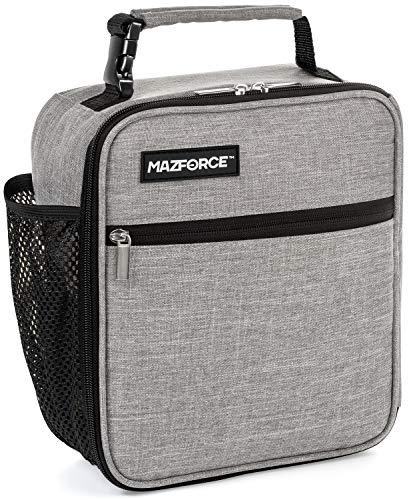 MAZFORCE Original Lunch Box Insulated Lunch Bag - Tough & Spacious Adult Lunchbox to Seize Your Day (Wolf Grey - Lunch Bags Designed in California for Men, Adults, Women) ()