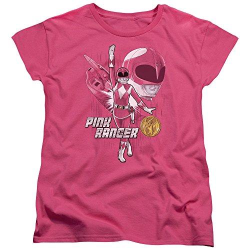 (Trevco Power Rangers Pink Ranger Women's T Shirt, Large)