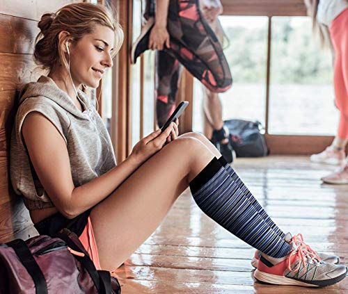 Compression Socks for Men and Women - Best for Running, Athletic Sports, Flight,Travel,Crossfit