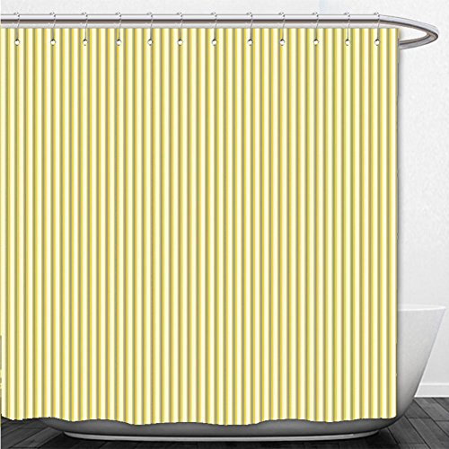 42' Tent (Beshowere Shower Curtain Grey and Yellow Circus Tent Inspired Vintage Retro Stripes Modern Image Light Yellow Beige and White)