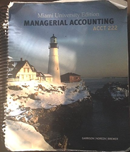 managerial accounting 222 Acc 113 principles of financial accounting ii acc 115 managerial accounting with spreadsheets (856) 222-9311 mount holly campus 1.