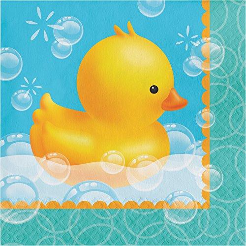 Rubber Duck Bubble Bath Napkins, 48 ct