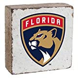 "Rustic Marlin Designs NHL Florida Panthers, White Background, Team Logo Block, 6"" x 6"" x 2"""