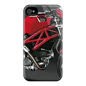 New Premium Flip Cases Covers Ducati Monster Skin Cases For Iphone 4/4s