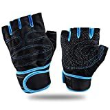 Copper Compression Arthritis Gloves,Feleph Copper Content Infused Fit Glove of Reliveve Arthritis Symptoms for Carpal Tunnel,Computer Typing,and Daily Support for Hands and Joints (Blue, L)
