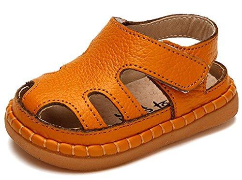 Price comparison product image Orlando Johanson New Infant Toddler Solid Color Closed Toe Summer Sandals Cute Sandals (6.5 M,  Orange) Comfortable