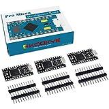KOOKYE 3PCS Black Pro Micro Board ATmega32U4 5V/16MHz Module Board with 2 Row Pin Header for Arduino Leonardo Replace ATmega328 Arduino Pro Mini Black