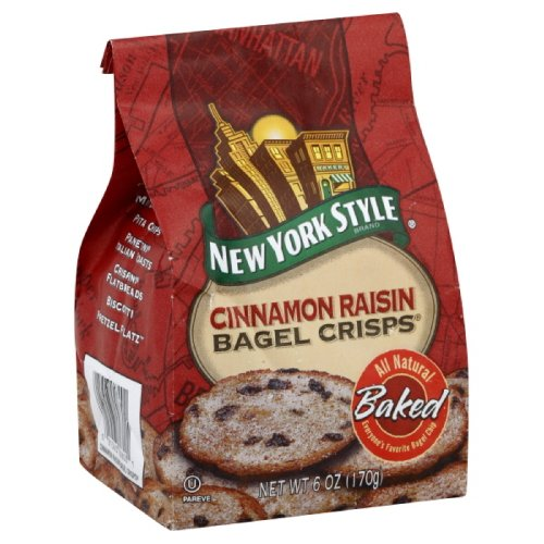 NY Style Bagel Chip Cinnamon Raisin, 6-ounce Bags (Pack of (Buy Cinnamon Chips)