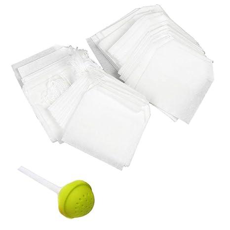 GOOTRADES 100 bolsas de té desechables con cierre de cordón ...