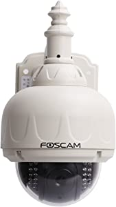 Foscam FI8919W Outdoor Pan and Tilt Wireless IP Camera (White)