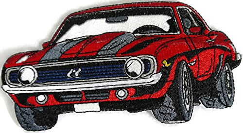 Classic Cars Collection [69 Camaro] [American Automobile History in Embroidery] Embroidered Iron On/Sew patch [6