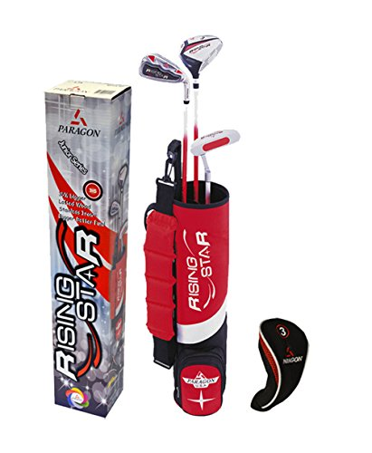 (Paragon Rising Star Kids/Toddler Golf Clubs Set / Ages 3-5 Red Left-Hand)