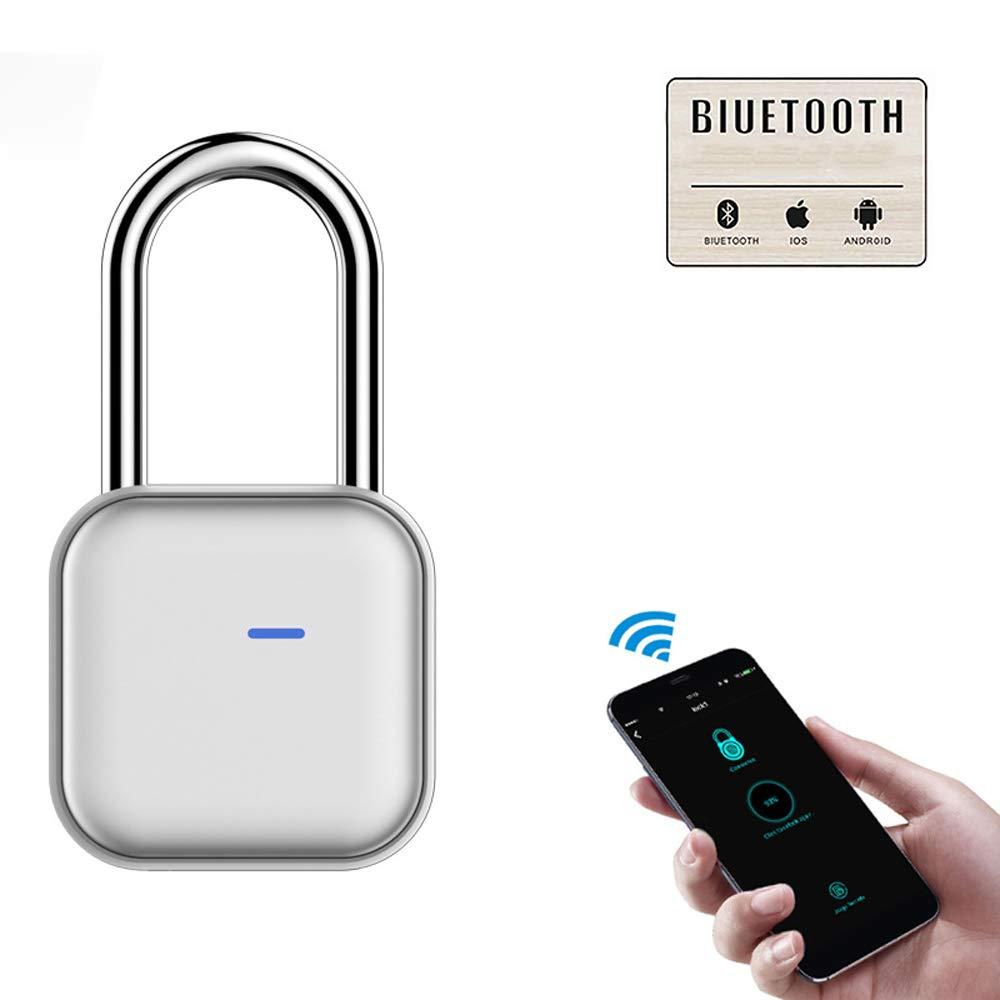 MUYIER Smart Bluetooth Padlock, Smart Padlock IP66 Waterproof Anti-Theft Padlock with APP/Bluetooth/Password Unlock for Gym Locker Luggages Shed Locker by MUYIER