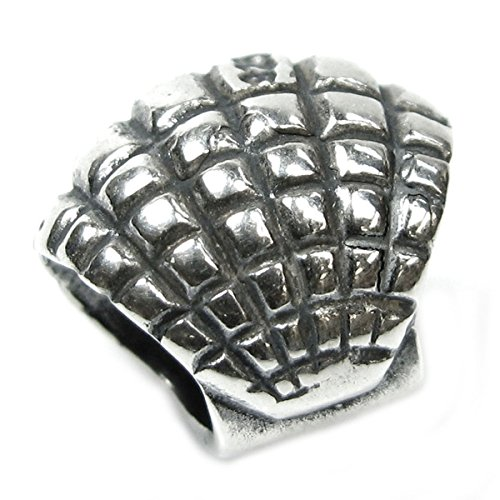 Sterling Silver Antiqued Seashell - Queenberry Sterling Silver Ocean Sea Shell Bead For European Charm Bracelets