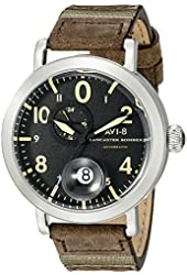 AVI-8 Men's AV-4038-01 Lancaster Bomber Analog Display Japanese Automatic Brown Watch