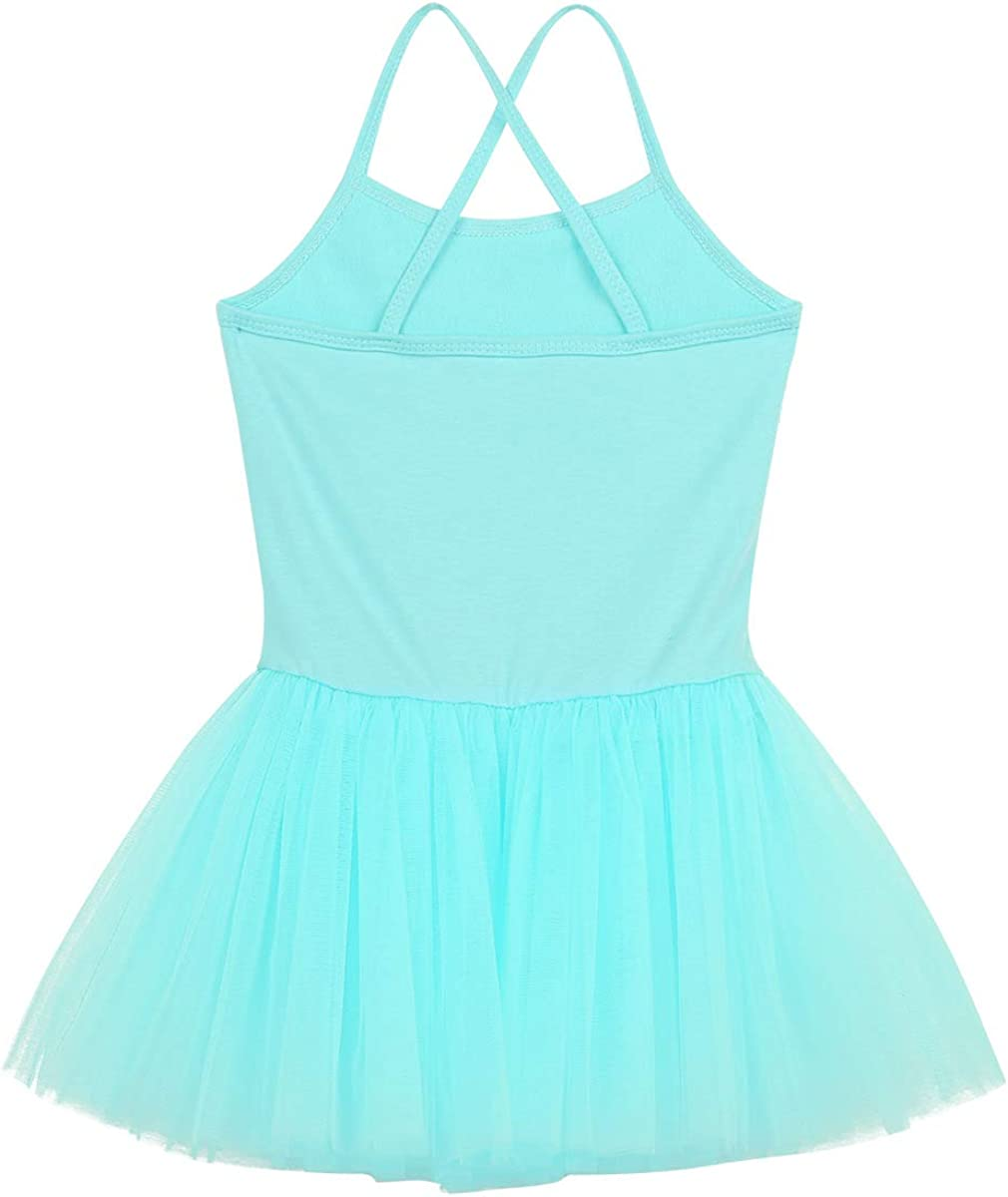 iEFiEL Kids Girls Sequins Camisole Ballet Tutu Dress Ballerina Dance Costume Gymnastics Leotard Bodysuit Dance Dress