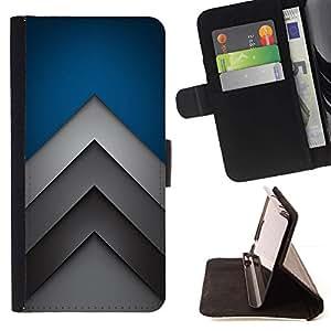 For Samsung Galaxy A3 Case , Flechas minimalistas- la tarjeta de Crédito Slots PU Funda de cuero Monedero caso cubierta de piel
