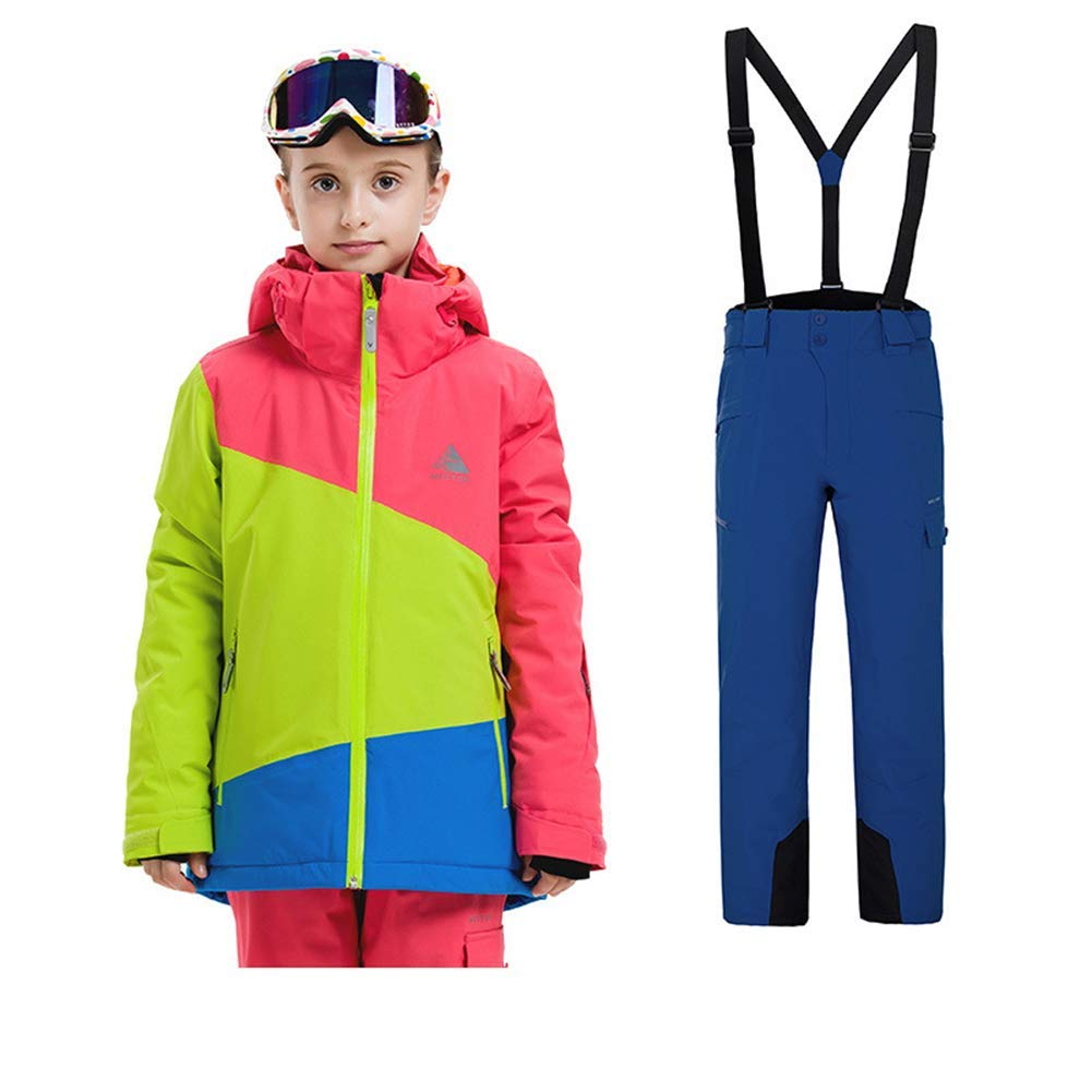 Z&X Kinder Winter Outdoor Skianzug Skianzug Skianzug Jungen Sport Wasserdichte Kleidung Mädchen Gepolsterte Warme Skijacken mit Skihose B07MQ4Z5CL Bekleidung Hohe Qualität und günstig e995d6