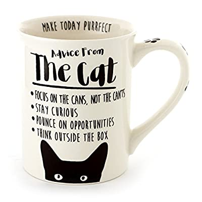"""Cat Fan related Products Enesco Our Name Is Mud """"Advice From The Cat"""" Stoneware Coffee... [tag]"""
