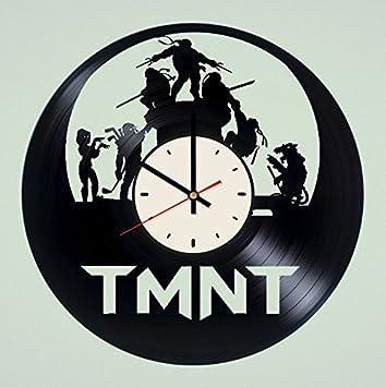 Amazon.com: STP Cat Ninja Turtles Vinyl Wall Clock ...
