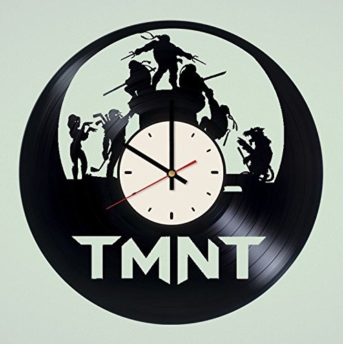 Female Mutant Ninja Turtles (Teenage Mutant Ninja Turtles vinyl record wall clock TMNT wall clock artwork gift idea for birthday, christmas, women, men, friends, girlfriend boyfriend and teens - living kids room nursery)