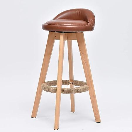 Tabouret de bar en bois massif Chaise de bar minimaliste