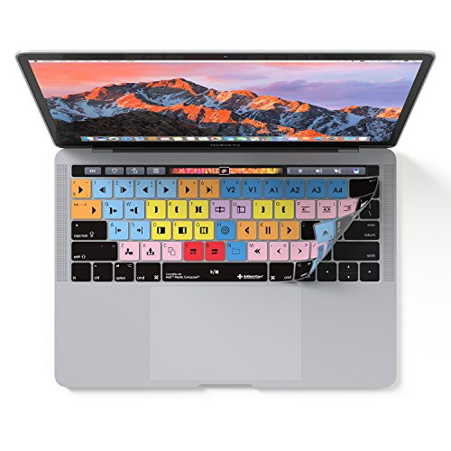 Avid Media Composer Keyboard Cover Skin for MacBook Pro with Touch Bar 13 and 15 (also fits Magic Keyboard)