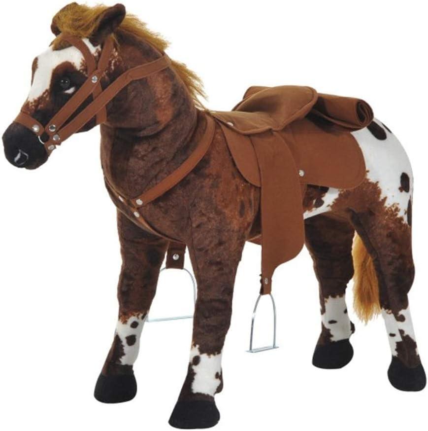 Los juguetes de montar Caballo de relleno felpa Los niños interactivo Permanente vehículo infantil Caballo Juego de imaginación Caballo vehículo infantil caballo Regalos de juguetes de bebé
