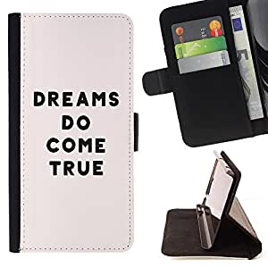 Super Marley Shop - Funda de piel cubierta de la carpeta Foilo con cierre magn¨¦tico FOR Samsung Galaxy S5 V SM-G900 G9009 G9008V- Dreams Do Come True