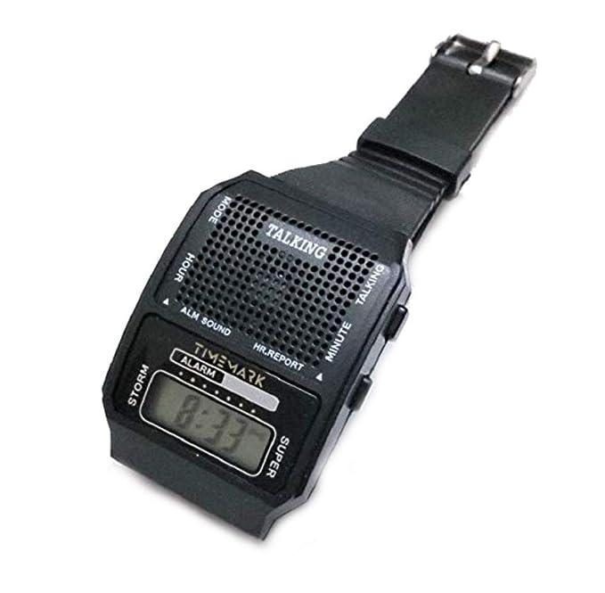 Reloj Digital Parlante - Voz En Español - Discapacidad Visual - Unisex: Amazon.es: Relojes
