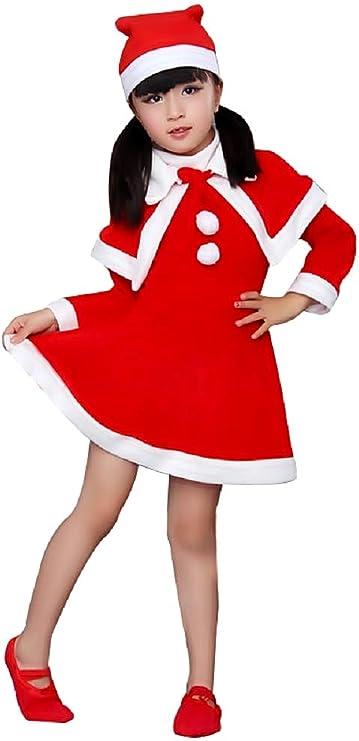 Disfraz de Papá Noel - niña - duende - carnaval - halloween - rojo ...