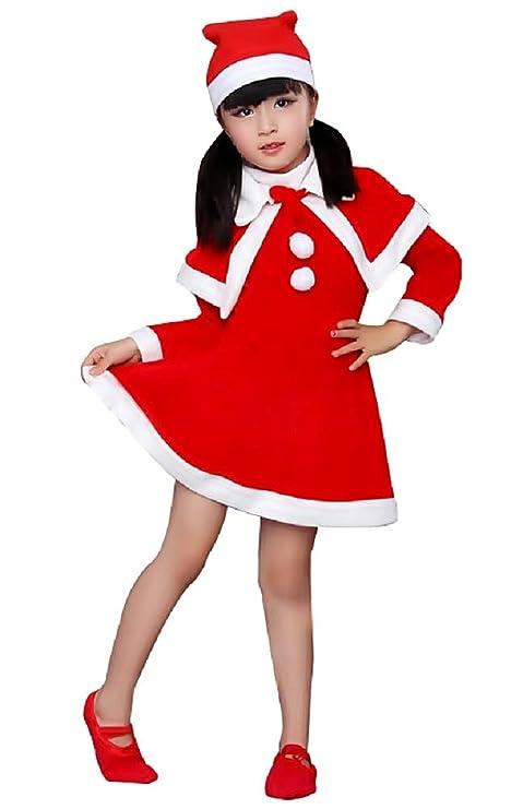 Disfraz de Papá Noel - Niña - Folletto - Carnaval ...