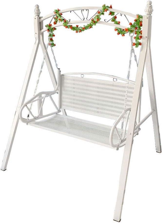 TWW mecedora de hierro forjado al aire libre, sillón colgante, mecedora de hierro forjado en verano para adultos