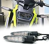 Motorcycle Turn Signals LED Front Turn Signal Indicators Clear Lens Universal for Honda MSX Grom 125 150 Suzuki Yamaha Kawasaki