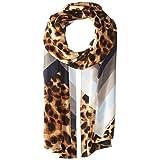 Vince Camuto Women's Cheetah Chevron Oblong Scarf, Classic Tan, One Size
