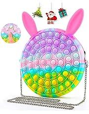 MiXXAR Pop Shoulder Bag, Pop Fidget Toy Handbag Simple Pop Purse Anxiety Sensory Fidget Toy Push Bubble Crossbody Small Purse Crossbody Bags for Girls New Year's Gift1