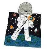 Kids Hooded Poncho Towels Dream Astronaut Beach Swimming Pool Bath Towel for Girls&Boys