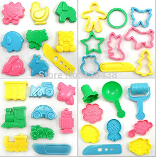 Play Dough Playdough (36pcs/set) Polymer Clay Mold Tools Set Kit by Children Toys